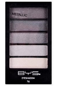 <b>BYS 5 Piece Eye Shadow - Gun Metal Greys</b>